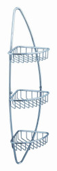 FAC0105 | Fresca Magnifico 3 Tier Corner Wire Basket - Chrome