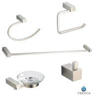FAC0400BN | Fresca Ottimo 5-Piece Bathroom Accessory Set - Brushed Nickel