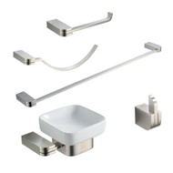 FAC1300BN | Fresca Solido 5-Piece Bathroom Accessory Set - Brushed Nickel