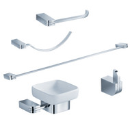 FAC1300 | Fresca Solido 5-Piece Bathroom Accessory Set - Chrome
