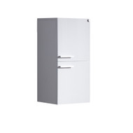 FST8091WH | Fresca White Bathroom Linen Side Cabinet w/ 2 Storage Areas