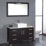 "Cambridge 36"" Solid Wood & Porcelain Single Vessel Sink Vanity Set with a Brushed Nickel Faucet"