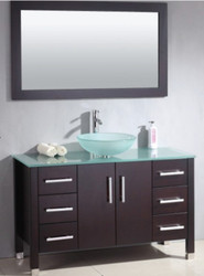 "Cambridge 48"" Bathroom Vanity Set with a Brushed Nickel Faucet"