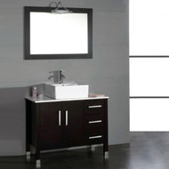 "Cambridge 40"" Bathroom Vanity Set with a Brushed Nickel Faucet"