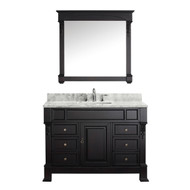 "Virtu USA Huntshire Manor 48"" Single Bathroom Vanity Set in Dark Walnut"