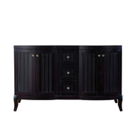 "Virtu USA Khaleesi 60"" Double Bathroom Vanity Cabinet in Espresso"