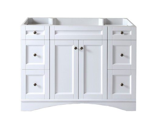 "Virtu USA Elise 48"" Bathroom Vanity Cabinet in White"