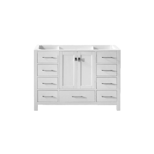 "Virtu USA Caroline Avenue 48"" Bathroom Vanity Cabinet in White"