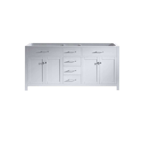 "Virtu USA Caroline 71"" Double Bathroom Vanity Cabinet in White"