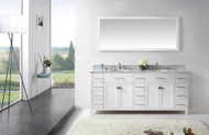 "Virtu USA Caroline Parkway 78"" Bathroom Vanity Cabinet in White"