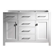 "Virtu USA Caroline 47"" Single Bathroom Vanity Cabinet in White"