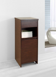 "Virtu USA Raynard 16"" Modern Side Cabinet in Walnut"