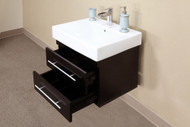 Bellaterra Home 203102-D | 48.5 in Double wall mount style sink vanity-wood-black