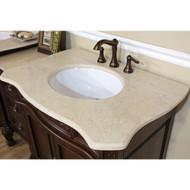 Bellaterra Home 202016A-D-CR | 82.7 in. Double Sink Vanity-Walnut-Cream Mable