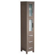 Fresca Torino Gray Oak Tall Bathroom Linen Side Cabinet