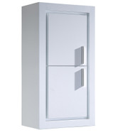 Fresca Allier White Bathroom Linen Side Cabinet w/ 2 Doors