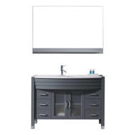 "Virtu USA Ava 48"" Single Bathroom Vanity Cabinet Set in Grey"