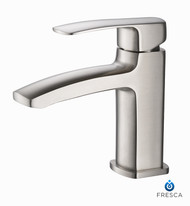 FFT9161BN | Fresca Fiora Single Hole Mount Bathroom Vanity Faucet - Brushed Nickel