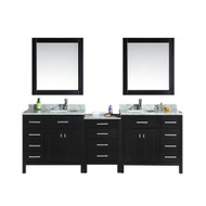 "London 92"" Double Sink Vanity Set in Espresso"