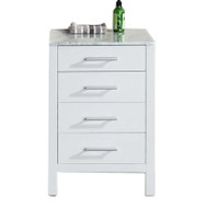 "Design Element CAB076-W-20 | London 20"" Cabinet in White"