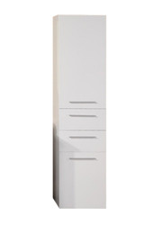 "Design Element DEC066S-W | Malibu 66"" Linen Cabinet"