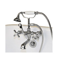 Cambridge Plumbing CAM463W-BN Clawfoot Tub Wall Mount British Telephone Faucet with Hand Held Shower-Brushed Nickel