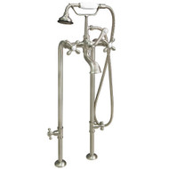Cambridge Plumbing CAM398463-BN Clawfoot Tub Freestanding British Telephone Faucet & Hand Held Shower Combo-Brushed Nickel