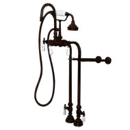 Cambridge Plumbing CAM398684-ORB Clawfoot Tub Freestanding English Telephone Gooseneck Faucet & Hand Held Shower Combo-Oil Rubbed Bronze