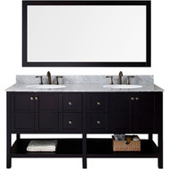 "Virtu USA Winterfell 72"" Double Bathroom Vanity Set in Espresso"