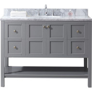 "Virtu USA Winterfell 48"" Single Bathroom Vanity Set in Grey"