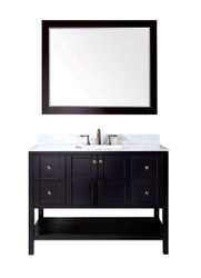 "Virtu USA Winterfell 48"" Single Bathroom Vanity Set in Espresso"