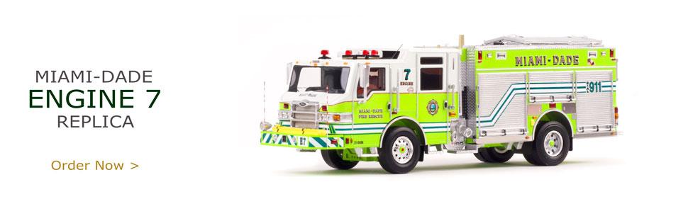 Miami-Dade Pierce Velocity PUC Engine 7 Scale Model
