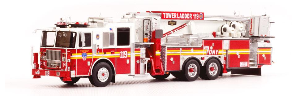 FDNY Tower Ladder 119 museum grade replica
