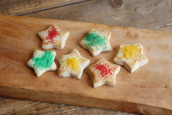 Star Sugar Cookies (aprox 36 pieces, 1 lb.)  $18.00