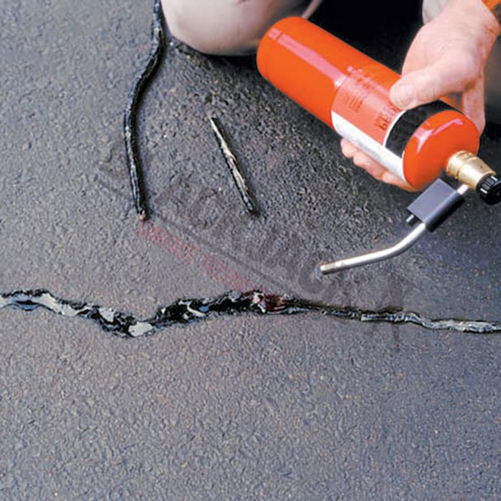 Pli-Stix Permanent Crack Filler Being Heated