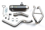 TWO BROTHERS RACING 2 BROS 005-3890105-T COMPLETE FULL EXHAUST SYSTEM  TARMAC CARBON FIBER MUFFLER  STAINLESS HEADER / COLLECTOR & LINK / MID PIPE  KAWASAKI NINJA 300 300R EX300 EX300R ZX3 ZX-3 ZX-3R  13 14 15 2013 2014 2015 16 2016