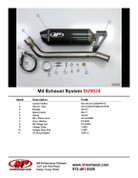 M4 SU9824 CARBON CF SO 3/4 CAT DELETE EXHAUST GSXR100 07-08