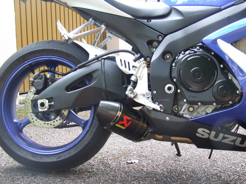 akrapovic s s6so5 tc slip on so exhaust system open 2 carbon. Black Bedroom Furniture Sets. Home Design Ideas