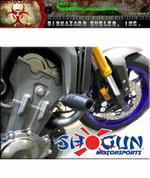 SHOGUN 750-6399 NO CUT FRAME SLIDERS (BLACK) FZ09  FZ09 FZ-09 MT09 MT-09