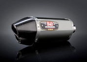 YOSHIMURA 1160023520 SLIP ON SO EXHAUST SYSTEM  R77D R-77D STAINLESS STEEL SS MUFFLER W CARBON CF DUAL OUTLET END CAP SUZUKI GSXR750 GSXR600 GSX-R750 GSX-R600 GSXR-750 GSXR-600 GSXR 600 750 2011 2012 11 12 13 14 15 2013 2014 2015 SS LINK / MID PIPE CONNECTS TO THE CAT