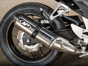 M4 HO5012 Standard Mount Polished STAINLESS SLIP-ON SO EXHAUST SYSTEM  HONDA CBR500 CBR500R CBR 500 500R   13 14 15 16 2013 2014 2015 2016
