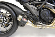 COMPETITION WERKES WDDVL wddvl-bC SLIP ON EXHAUST SYSTEM BLACK VELVET CENTER  STAINLESS STEEL SS GP STYLE HAND WELDED MUFFLER  12 POUNDS LIGHTER  TAPERED BAFFLE  DUCATI DIAVEL 2011 2012 11 12 13 2013 14 15 2014 2015 16 2016
