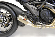 COMPETITION WERKES WDDVL  SLIP ON EXHAUST SYSTEM STAINLESS STEEL SS GP STYLE HAND WELDED MUFFLER  12 POUNDS LIGHTER   TAPERED BAFFLE DUCATI DIAVEL 2011 2012 11 12 13 14 15 2013 2014 2015 16 2016