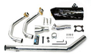 TWO BROTHERS 005-2080107V-B  NINJA 250R BLACK CF FULL EXHAUST SYSTEM 08-12