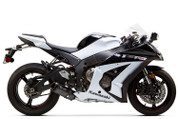 TWO BROTHERS RACING 2 BROS 005-2990407V3-B BLACK SERIES SLIP ON SO EXHAUST SYSTEM SHORTY BLACK SERIES M2 V3 CARBON FIBER CF MUFFLER  STAINLESS SS LINK MID PIPE REMOVES CAT CATALYZER DELETE KAWASAKI ZX10R ZX-10R ZX10 ZX-10 1000  11 12 13 14 15 2011 2012 2013 2014 2015 BLACK TEFLON COATED END CAP AND HARDWARE