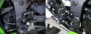 SATO RACING REARSETS NINJA 250R BLACK 08-11