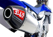 YOSHIMURA RS4-RS-4 234802D320 SO SLIP ON EXHAUST SYSTEM  ALUMINUM AL MUFFLER WITH CARBON FIBER CF END CAP STAINLESS STEEL SS  MID PIPE  YAMAHA YZ450F YZ-450F YZ 450F 450  2010 10 2011 11 2012 12 13 2013