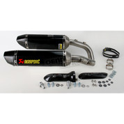 AKRAPOVIC S-Y10SO9-ZC SLIP ON SO EXHAUST SYSTEM  DUAL 2 CARBON FIBER HEX MUFFLERS W CF END CAPS  YAMAHA YZF-R1 YZFR1 YZF R1 R1000 1000 09 10 11 12 13 14 2009 2010 2011 2012 2013 2014