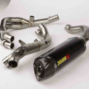 AKRAPOVIC S-Y6R7-ZC RACING LINE RACE FULL EXHAUST SYSTEM CARBON FIBER CF HEX MUFFLER  STAINLESS SS HEADER / COLLECTOR & MID / LINK PIPE YAMAHA YZFR6 YZF-R6 YZF R6 600  08 09 10 11 12 13 14 15 16 2008 2009 2010 2011 2012 2013 2014 2015 2016