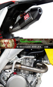 YOSHIMURA 2192172 COMPLETE FULL EXHAUST SYSTEM CARBON FIBER CF MUFFLER W CF END CAP AMA PRO RACING SOUND INSERT DB KILLER TITANIUM HEADER / COLLECTOR & MID / LINK PIPE SUZUKI RMZ450 RMZ-450 RMZ 450 RM-Z450 RM Z450  08 09 10 11 12 2008 2009 2010 2011 2012 13 14 15 16 17 2013 2014 2015 2016 2017